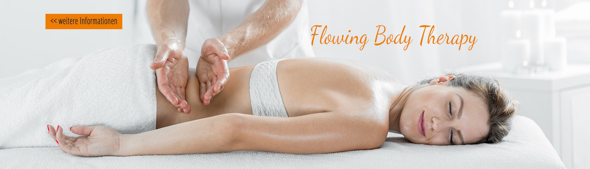 Woman during therapeutic body massage